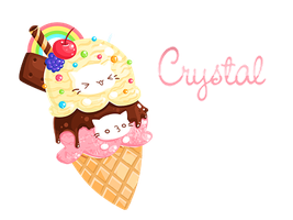 Crystal's Ice-cream Kitties by ishiwong
