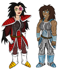 Korra and Asami Saiyans AU finished by Primal-Lord