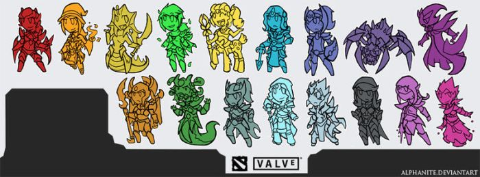 Dota 2 Female Heroes 2014 by alphanite