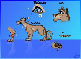 Mabaya New Ref Sheet by TheWolfMadness