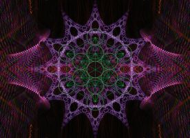 Metatron's Cube in Green by Octo-Pox