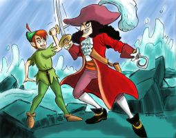 Peter pan and Cap Hook by Spizzina00