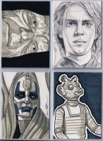 Star Wars sketch cards 3 by DarklighterDigital
