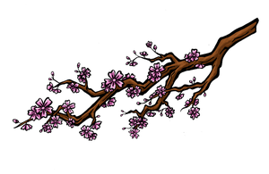 Cherry branch colored by Zifriel