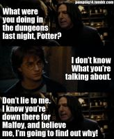 Snape Finds Out About Drarry by AnnikaClarisse