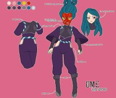 Ume and Sutoku Character Sheet by setsuna22