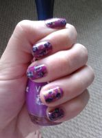 Roses nail art by LasManiaticas