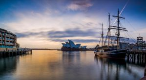 Opera House and Tall Ship by MarkKenworthy