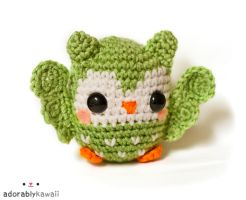 cute green owl amigurumi 3 by adorablykawaii