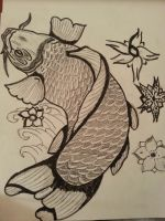 Koi fish sketch  n-1 by flaviudraghis