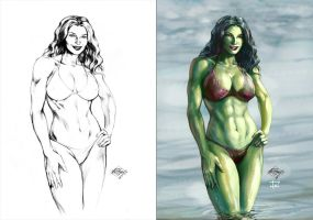 She Hulk by IvannaMatilla