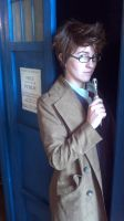 The Doctor and his TARDIS by AngryLittleGnome