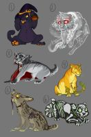 Halloween Themed Adopts CLOSED by Chipo-H0P3