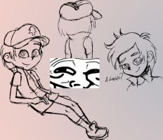 Dipper Pines doodles by AmigoDan