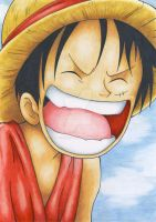 Luffy Laughing by ila-smula