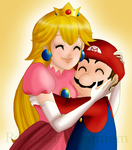 Peachy and Mario by Porcelain-Requiem