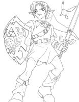 Updated Link lineart by frozen--phoenix