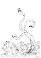 Sea snake - lineart by Ripplen