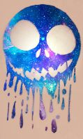 Dripping Galaxy Skull by NocturnalRavers