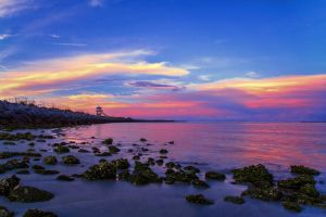 Sunset on the Inlet by TabithaS-Photography