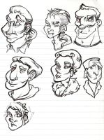 Facess by lesliesketch