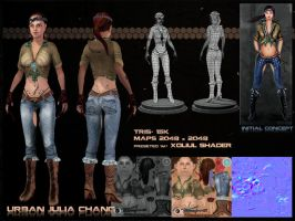 Urban Julia Chang Model Sheet by GDSWorld