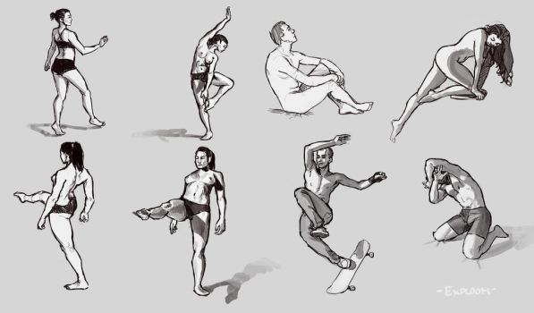 Pose Sketches 7 by Exploom