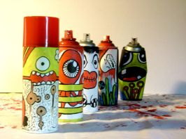 spray cans by RENNELL