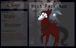 Thorn noct pack application by NiveousLamia