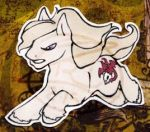 DEATH Pony charm by zirio