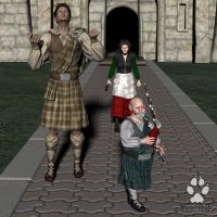 Commission: Kilts for Everyone 1 by Skiriki