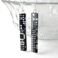 Black Circuit Board Earrings by Techcycle