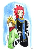 Axel and Roxas by i-s-p