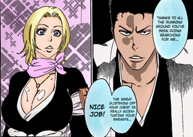 Rangiku and Isshin by arTuro247