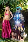 Blood Elf and Draenei Cosplay by Hekady