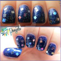 Winter glitter nails by Danijella