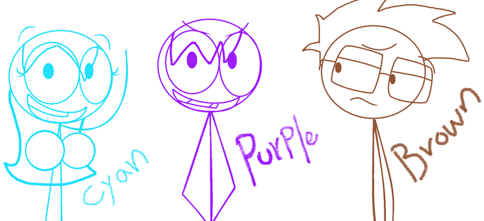 Purple, Brown and Cyan by DFMickey