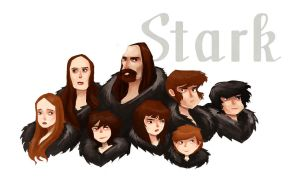 Stark family portrait by kazie