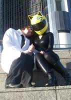 Celty and Shinra cosplay by lishlitz