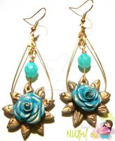 Vintage Rose Earrings by colourful-blossom