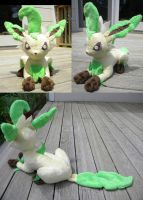 Leafeon Plushie by PeaceFluffles