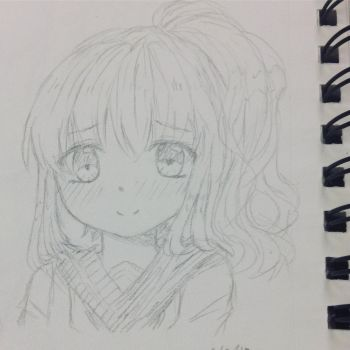 School girl sketch ~! by AmiChan120