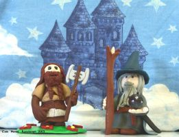 Gimli and Gandalf the Clay 2 by Noviel