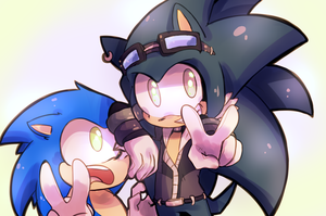 :Art Trade: Chance and Sonic by MisterCakerz