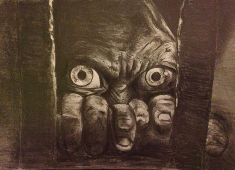 Gollum spying  by Catherine1992