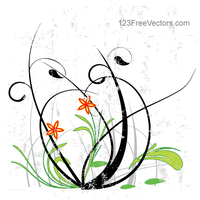 Flower Vector Graphics by 123freevectors