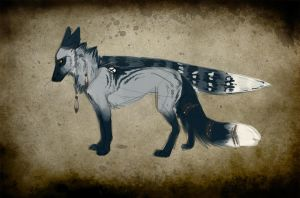New winged fox character. by Kerwana