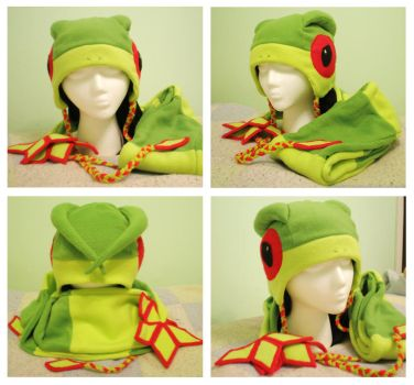Pokemon - Flygon Hat and Scarf by AwesomeTikiWiki