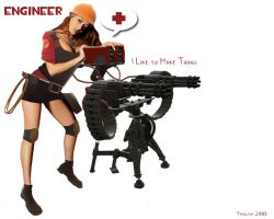 team fortress 2 engineer by iFrau