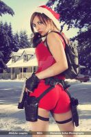 Lara Croft _ Merry Christmas by JillStyler